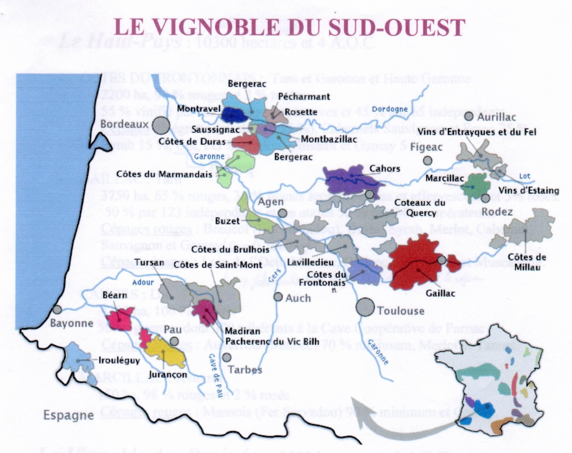Read more about the article Marier un vin du Sud Ouest avec son repas, accord mets vin pour les vins du Sud Ouest